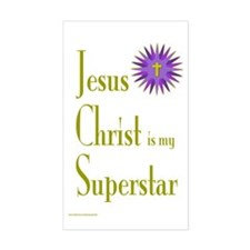 JESUS SUPERSTAR Rectangle Decal