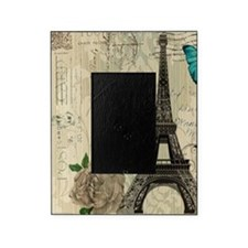 butterfly modern paris eiffel tower Picture Frame