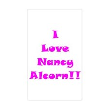 I Love Nancy Alcorn Rectangle Decal