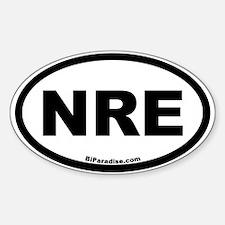 NRE Oval Decal
