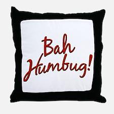 Bah, Humbug Throw Pillow