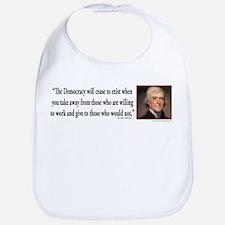 Thomas Jefferson explains Democracy Bib