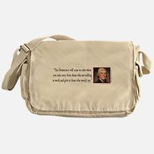 Thomas Jefferson explains Democracy Messenger Bag