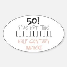 50th birthday graph Oval Decal