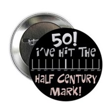 """50th birthday graph 2.25"""" Button (10 pack)"""