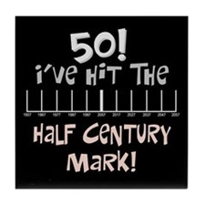50th birthday graph Tile Coaster