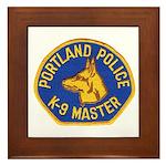 Portland Police Canine Framed Tile