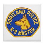 Portland Police Canine Tile Coaster