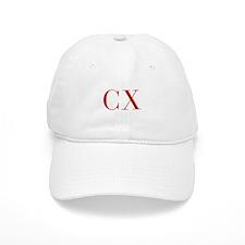 CX-bod red2 Baseball Baseball Baseball Cap