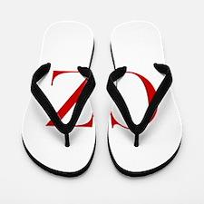 CZ-bod red2 Flip Flops