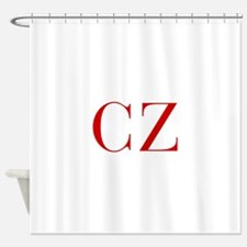 CZ-bod red2 Shower Curtain