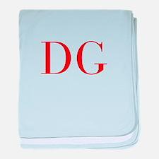DG-bod red2 baby blanket