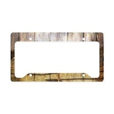 farm red barn wood texture License Plate Holder