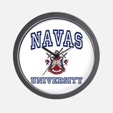 NAVAS University Wall Clock