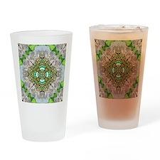 green diamond bling Drinking Glass