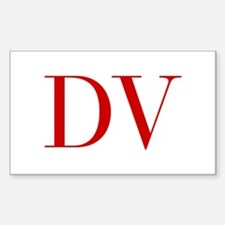 DV-bod red2 Decal