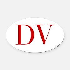 DV-bod red2 Oval Car Magnet