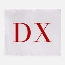 DX-bod red2 Throw Blanket