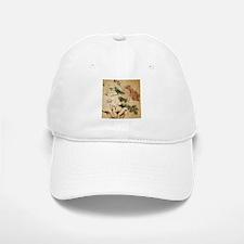 vintage rose bird paris french botanical art Baseball Baseball Cap