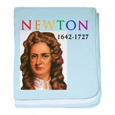 Sir Isaac Newton: Father of Modern Sc baby blanket
