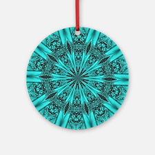 Torquise Crystal Wheel Ornament (Round)