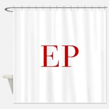 EP-bod red2 Shower Curtain