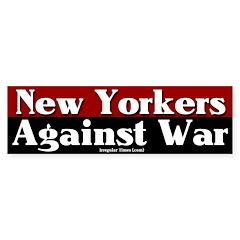 New Yorkers Against War Bumpersticker