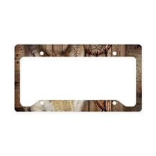 native dream catcher wolf License Plate Holder
