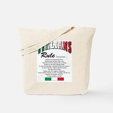 Italians Rules Tote Bag