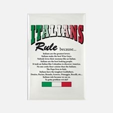 Italians Rules Rectangle Magnet (100 pack)