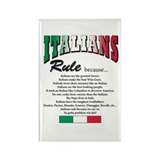 Italians Rules Rectangle Magnet