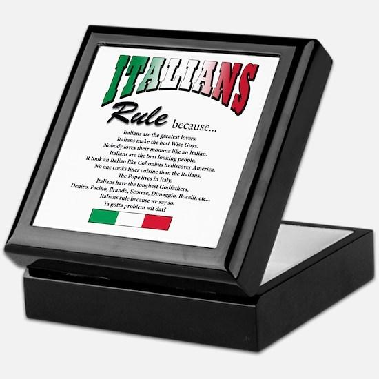 Italians Rules Keepsake Box