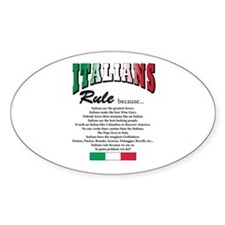 Italians Rules Oval Decal