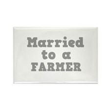 Married to a Farmer Rectangle Magnet