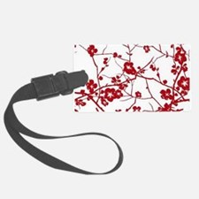modern zen artistic red plum flo Luggage Tag