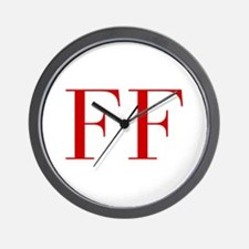 FF-bod red2 Wall Clock