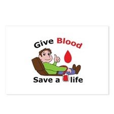 GIVE BLOOD SAVE LIFE Postcards (Package of 8)