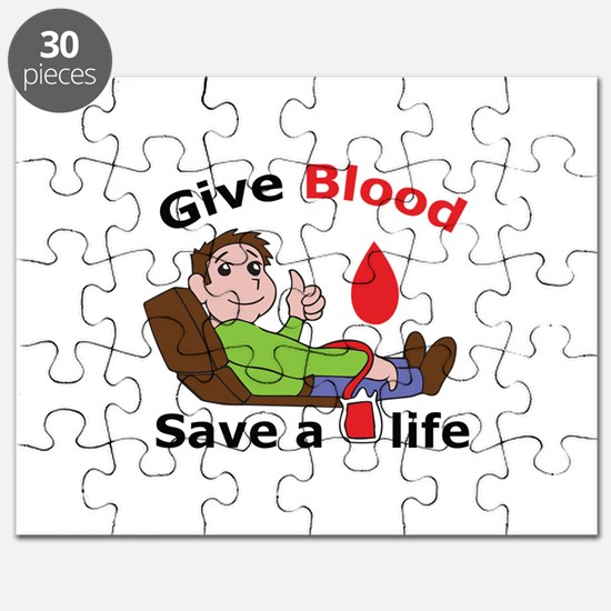 GIVE BLOOD SAVE LIFE Puzzle