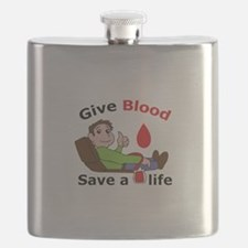GIVE BLOOD SAVE LIFE Flask