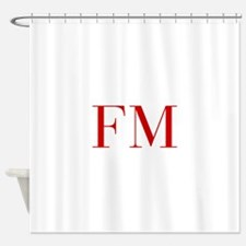 FM-bod red2 Shower Curtain