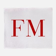 FM-bod red2 Throw Blanket