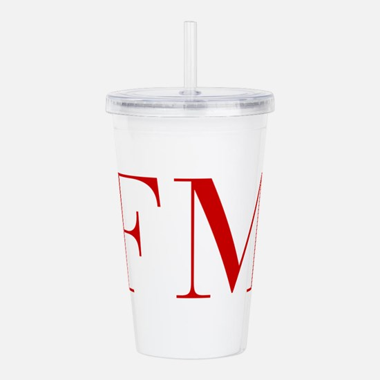 FM-bod red2 Acrylic Double-wall Tumbler