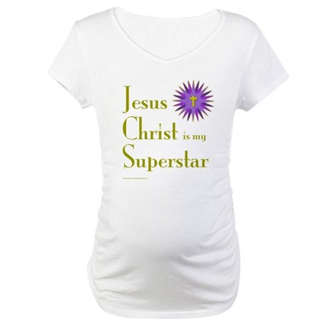 JESUS SUPERSTAR Maternity T-Shirt