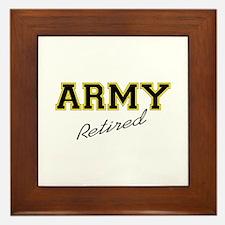 ARMY RETIRED Framed Tile
