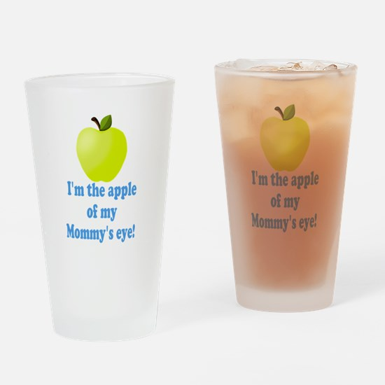 Apple of Mommys Eye Drinking Glass