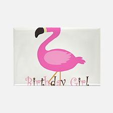 Birthday Girl Flamingo Magnets