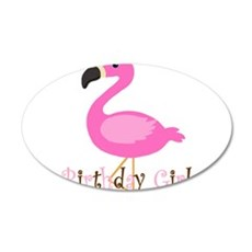Birthday Girl Flamingo Wall Decal