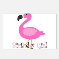 Birthday Girl Flamingo Postcards (Package of 8)