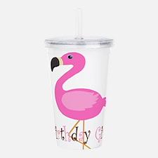 Birthday Girl Flamingo Acrylic Double-wall Tumbler