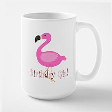 Birthday Girl Flamingo Mugs